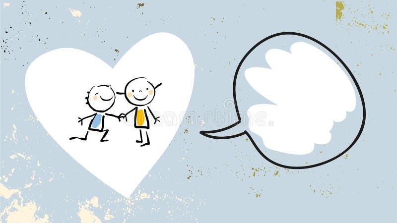 Dzieciak miłości przyjaźń ilustracja wektor