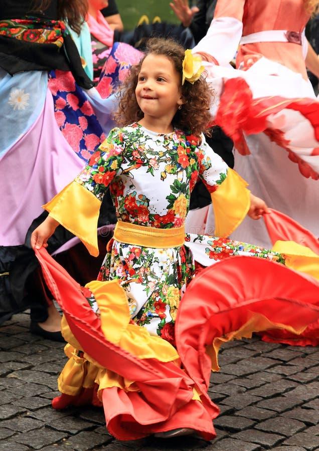 Dzieciak na Khamore - światowy Roma festiwal obrazy royalty free