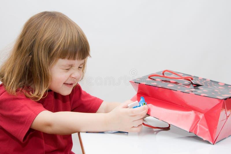 dzieciak niespodzianka fotografia stock
