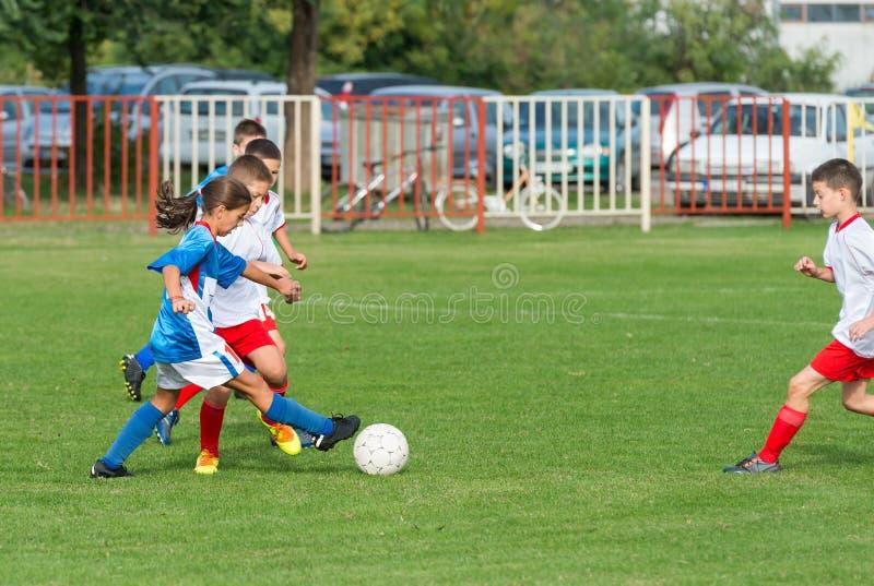 Dzieciak piłka nożna fotografia royalty free