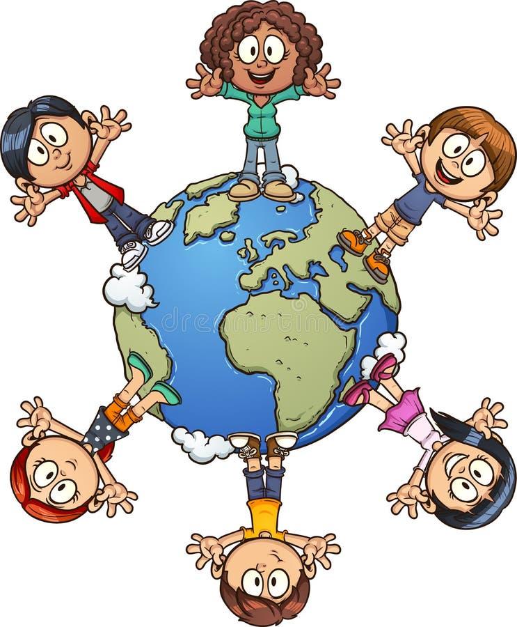 dzieciak planeta ilustracja wektor