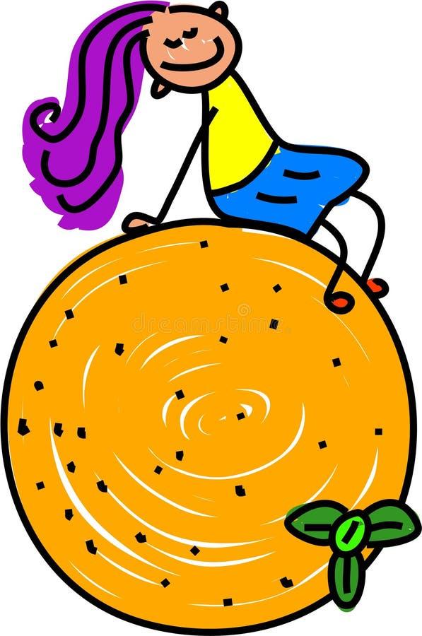 dzieciak pomarańcze royalty ilustracja