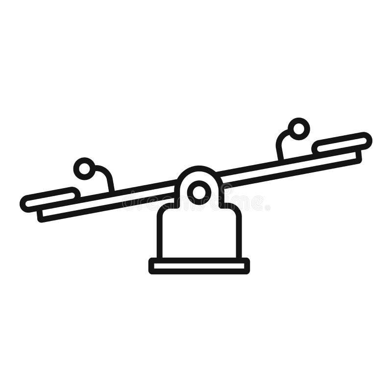 Dzieciak równowagi deski ikona, konturu styl ilustracja wektor
