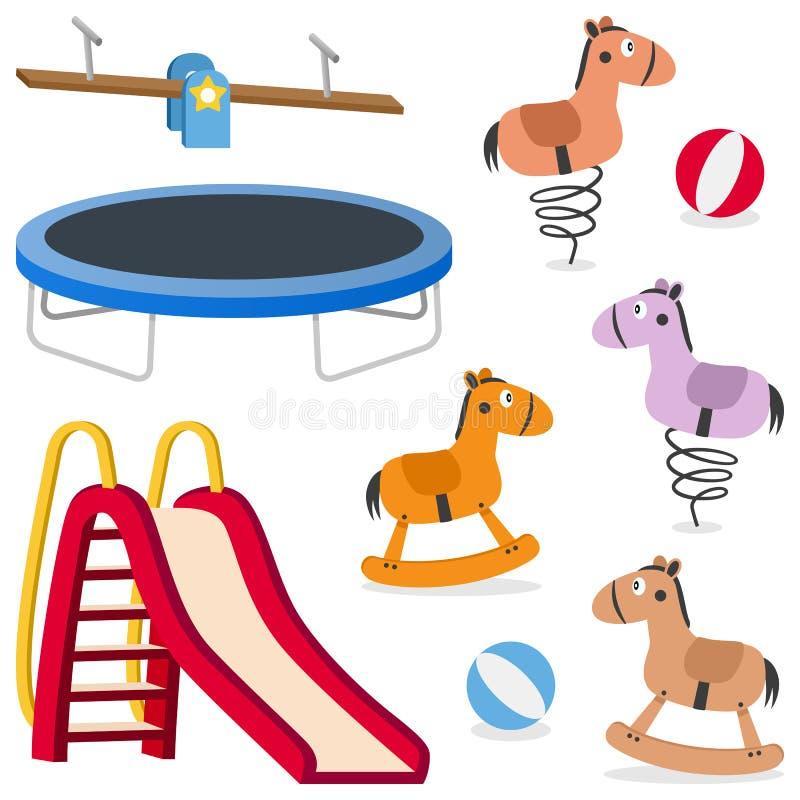 Dzieciak Rekreacyjne Zmielone gry Ustawiać royalty ilustracja