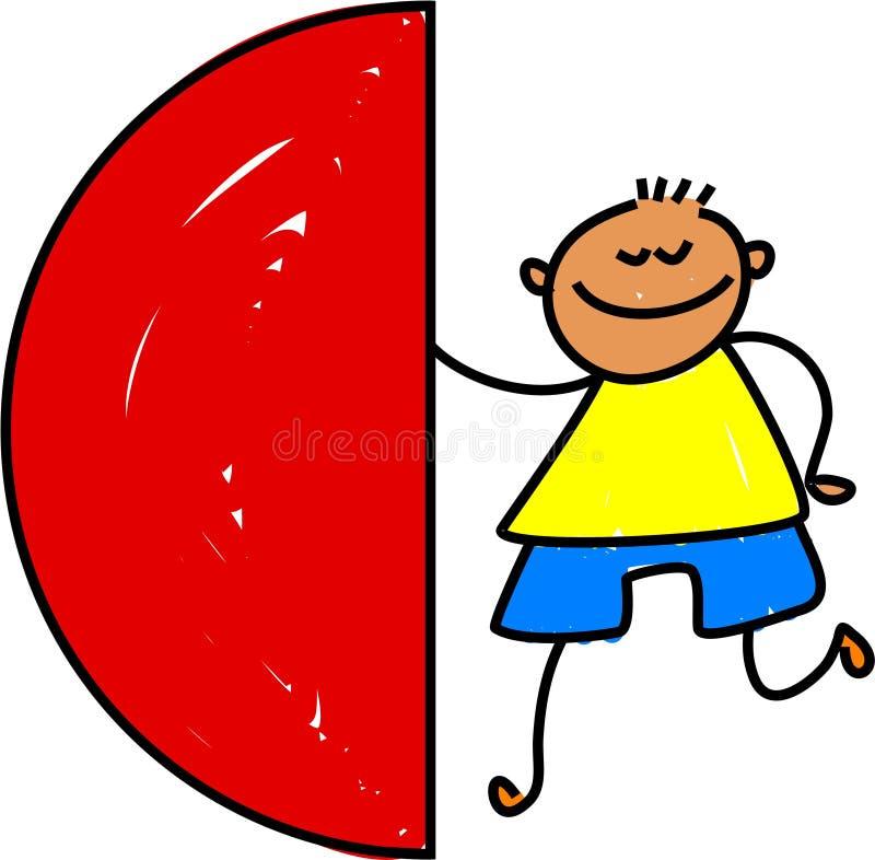 dzieciak semi okręgu ilustracja wektor