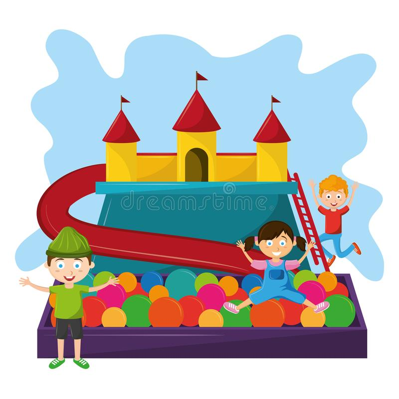 Dzieciak strefy dzieci entertaiment kreskówki royalty ilustracja