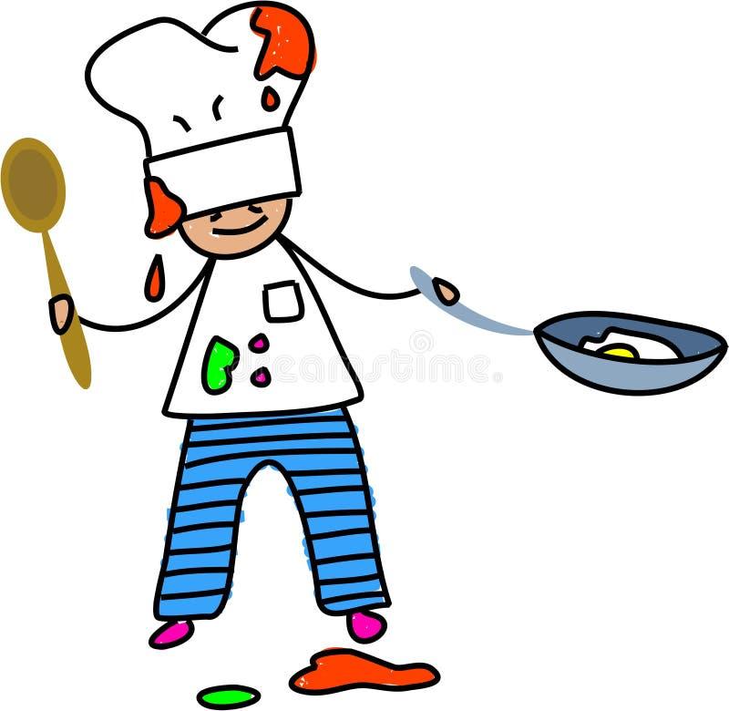 dzieciak szefa kuchni ilustracja wektor