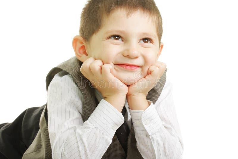 Dzieciak Target1817_0_ Uśmiechnięty Up Fotografia Royalty Free