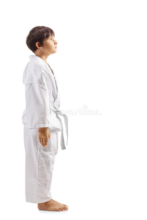 Dzieciak w karate kimonie obrazy stock