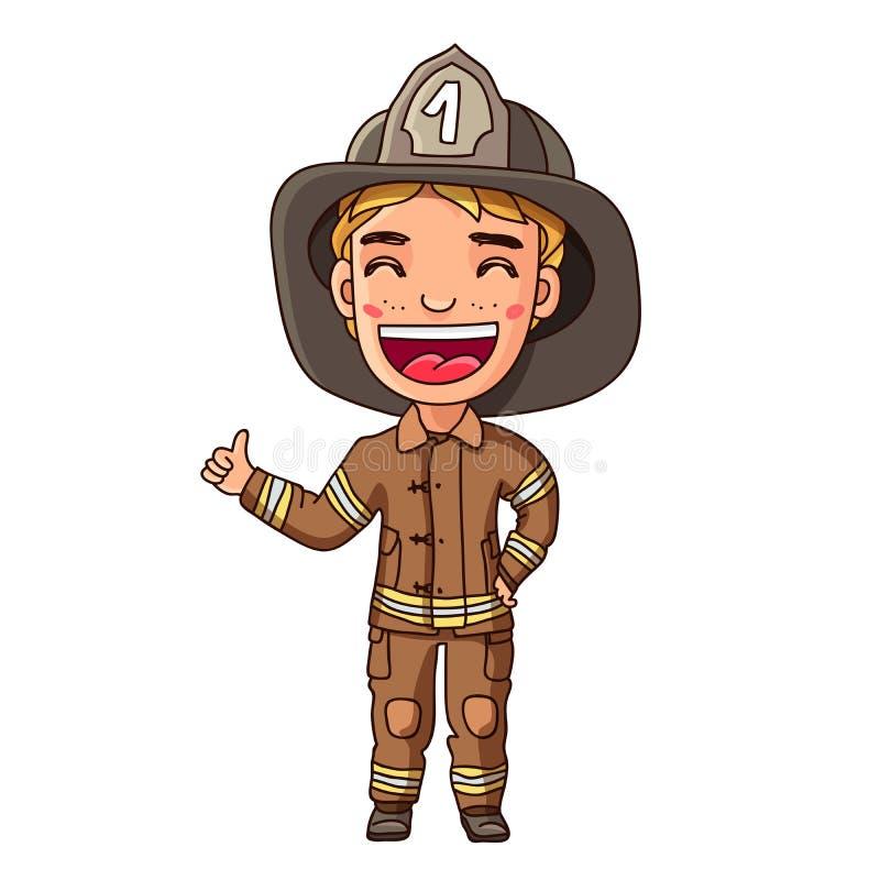 Dzieciak w palacza kostiumu ilustracja wektor