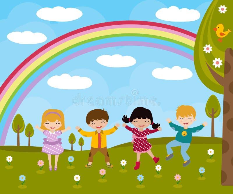dzieciak wiosna royalty ilustracja