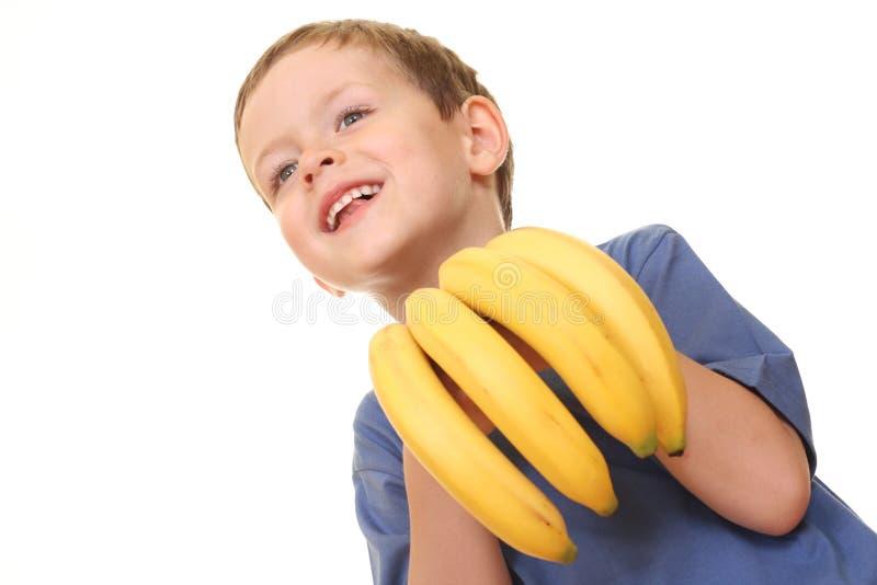 dzieciak z bananami obraz royalty free