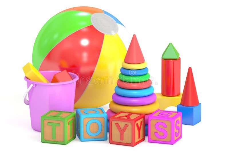 Dzieciak zabawek pojęcie, 3D rendering ilustracja wektor