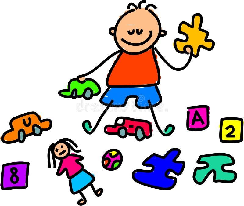 dzieciak zabawka ilustracji