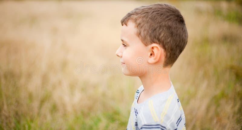 dzieciaka śliczny profil zdjęcia royalty free