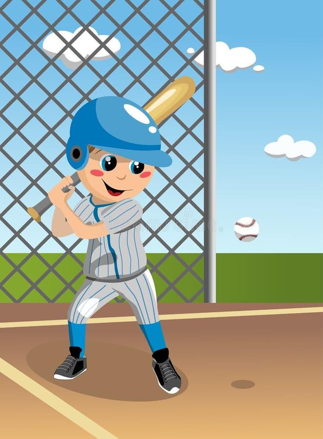 Dzieciaka baseballa ciasto naleśnikowe ilustracji