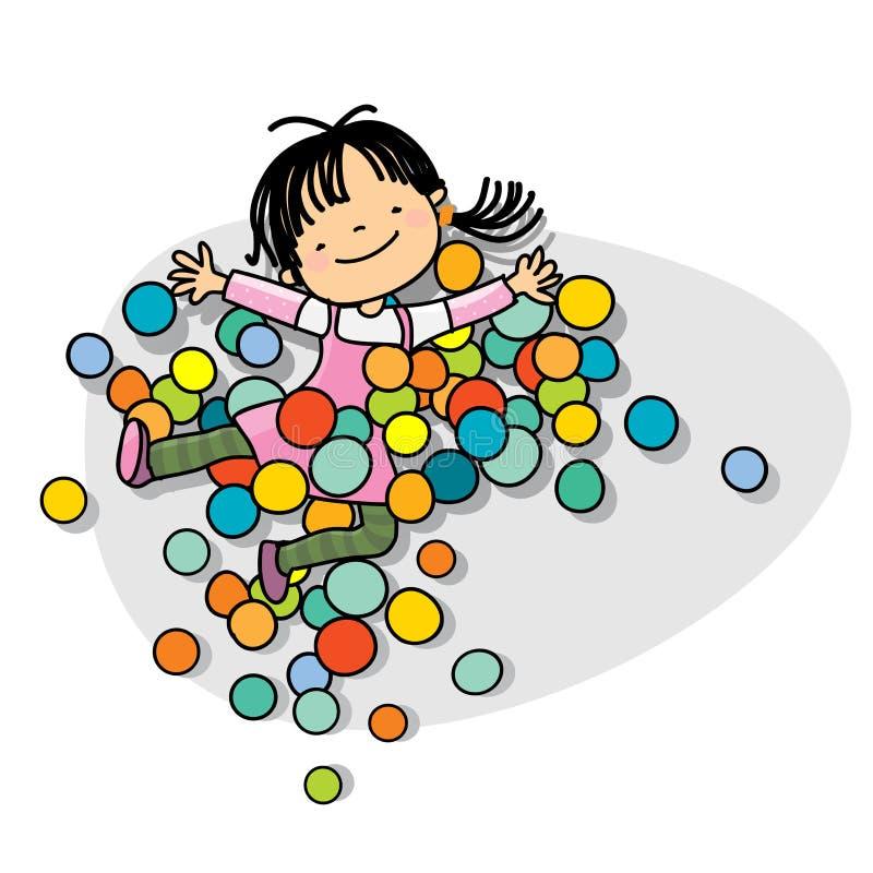 dzieciaka bawić się royalty ilustracja