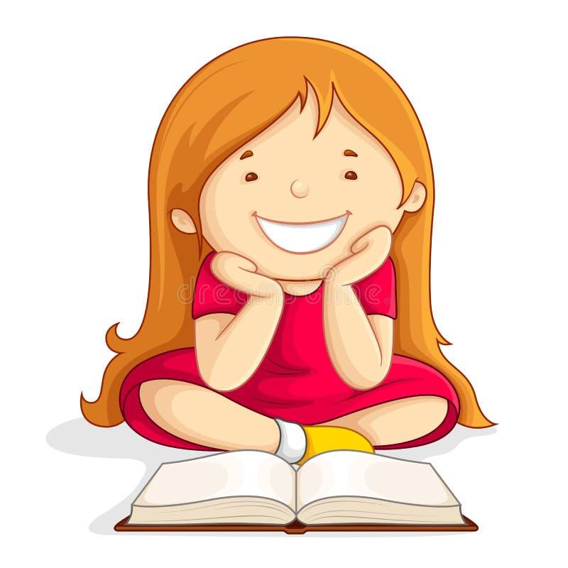 Dzieciaka czytania Otwarta Książka royalty ilustracja