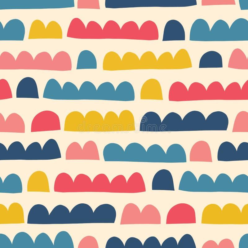 Dzieciaka doodle abstrakcjonistycznych kształtów wektoru wzoru papieru bezszwowy cięcie za kolażu stylu ilustracja wektor