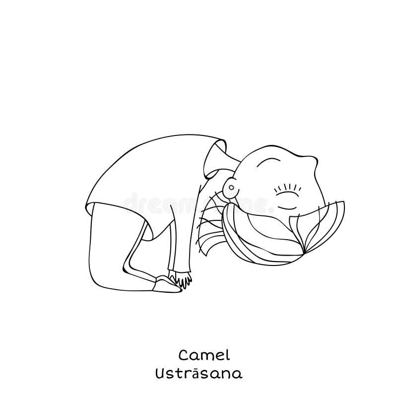 Dzieciaka joga poza Wielbłąd ilustracji