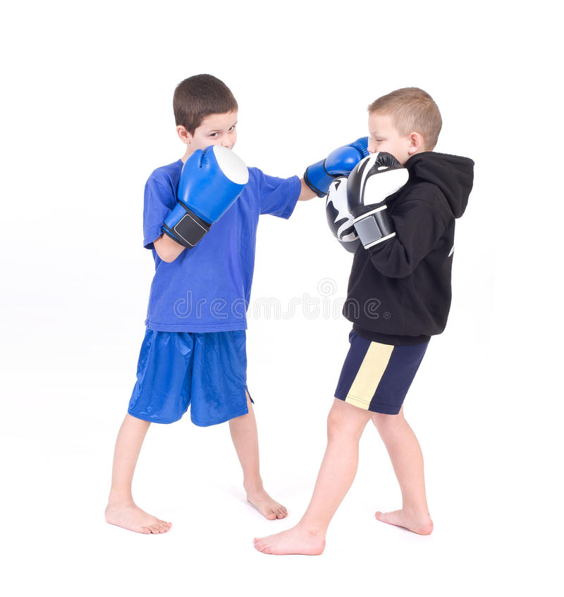 Dzieciaka Kickboxing walka obraz royalty free