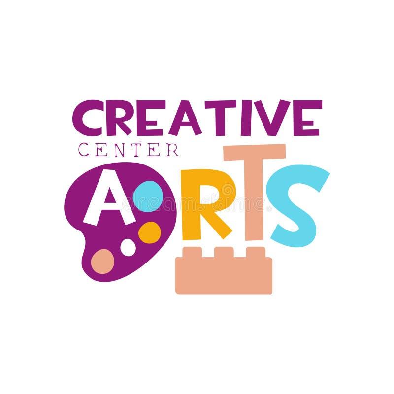 Dzieciaka Kreatywnie Klasowego szablonu Promocyjny logo Z, symbole sztuka, twórczość, i royalty ilustracja