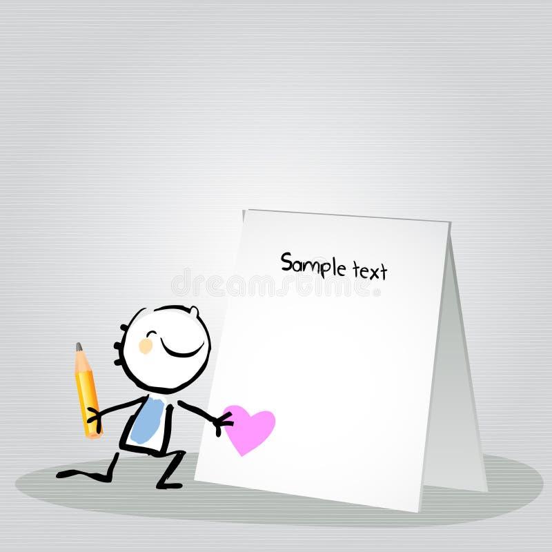 Dzieciaka list miłosny ilustracji