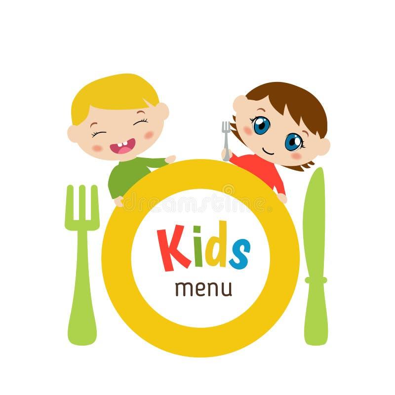 Dzieciaka menu projekt royalty ilustracja