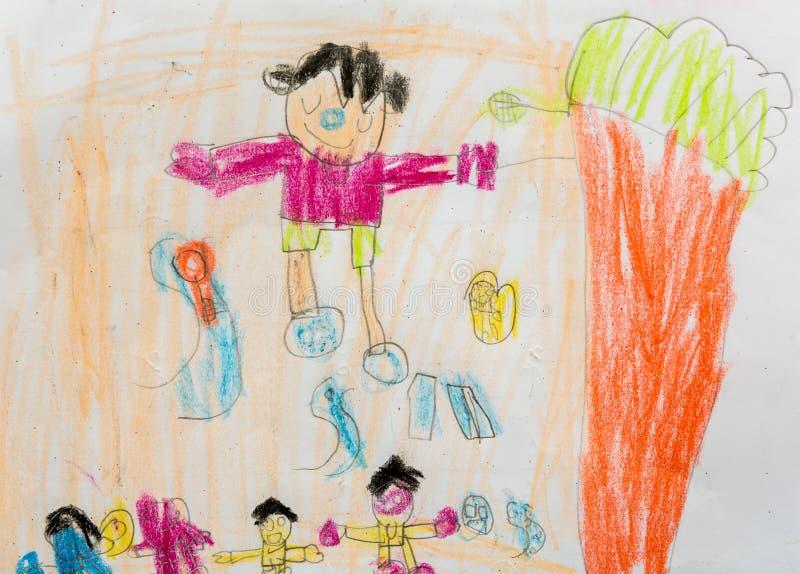 Dzieciaka obraz dziecko sztuki well wpólnie wyobraźnia obrazy royalty free