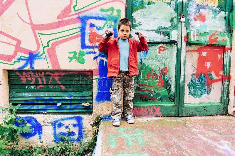 Dzieciaka obrazu graffiti zdjęcia stock