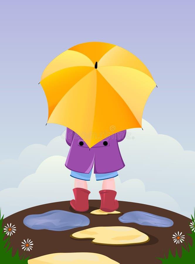 dzieciaka parasol ilustracji