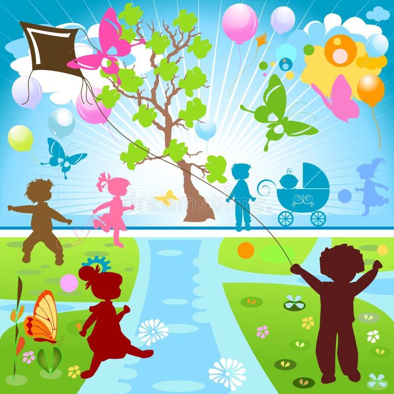 dzieciaka park ilustracja wektor