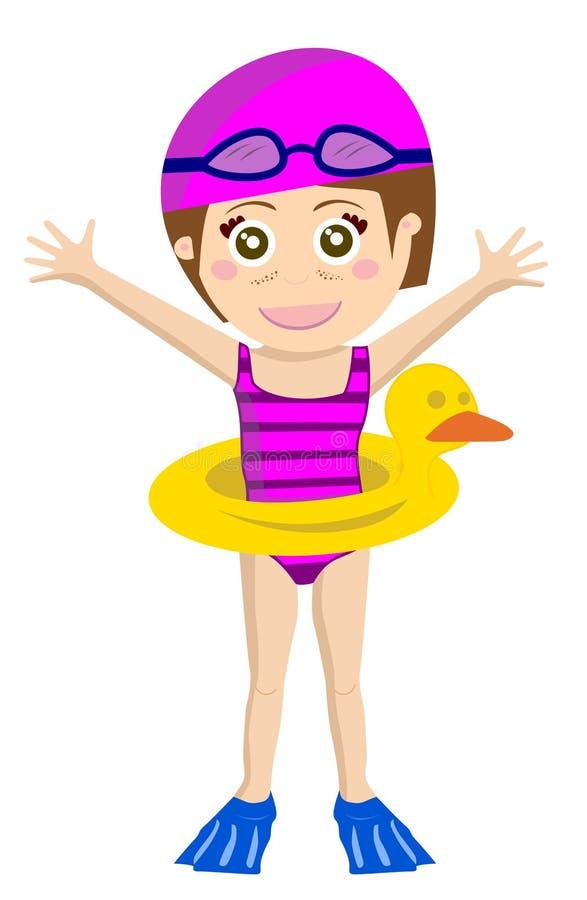 dzieciaka swimsuit royalty ilustracja