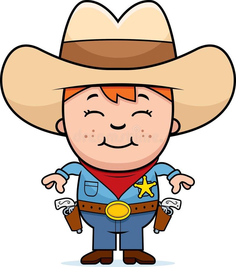 dzieciaka szeryf royalty ilustracja