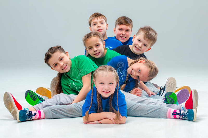 Dzieciaka tana szkoły, baleta, Hiphop, ulicy, ostrych i nowożytnych tancerze, zdjęcia stock