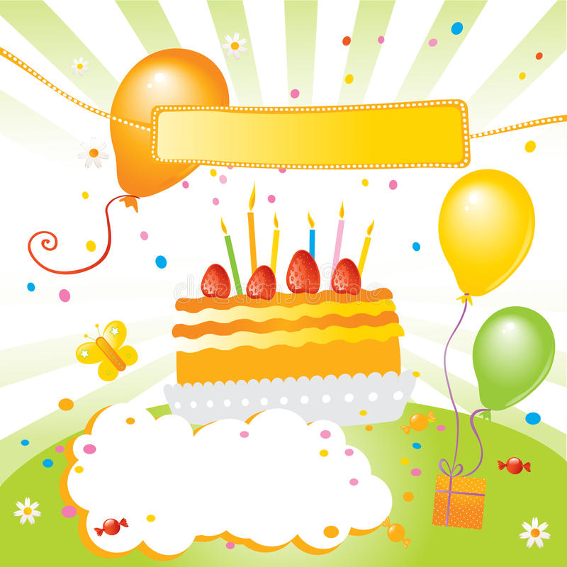 dzieciaka urodzinowy przyjęcie ilustracja wektor