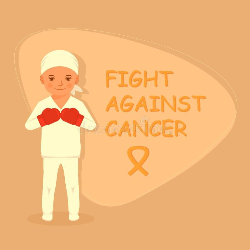 Dzieciaka walczący nowotwór, royalty ilustracja
