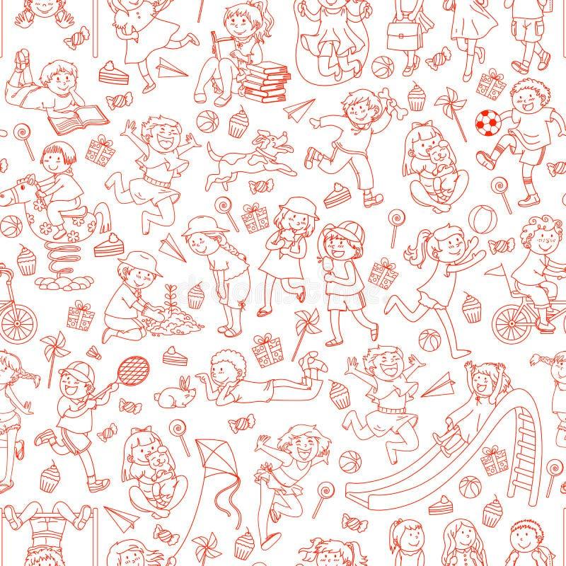 dzieciaka wzór royalty ilustracja