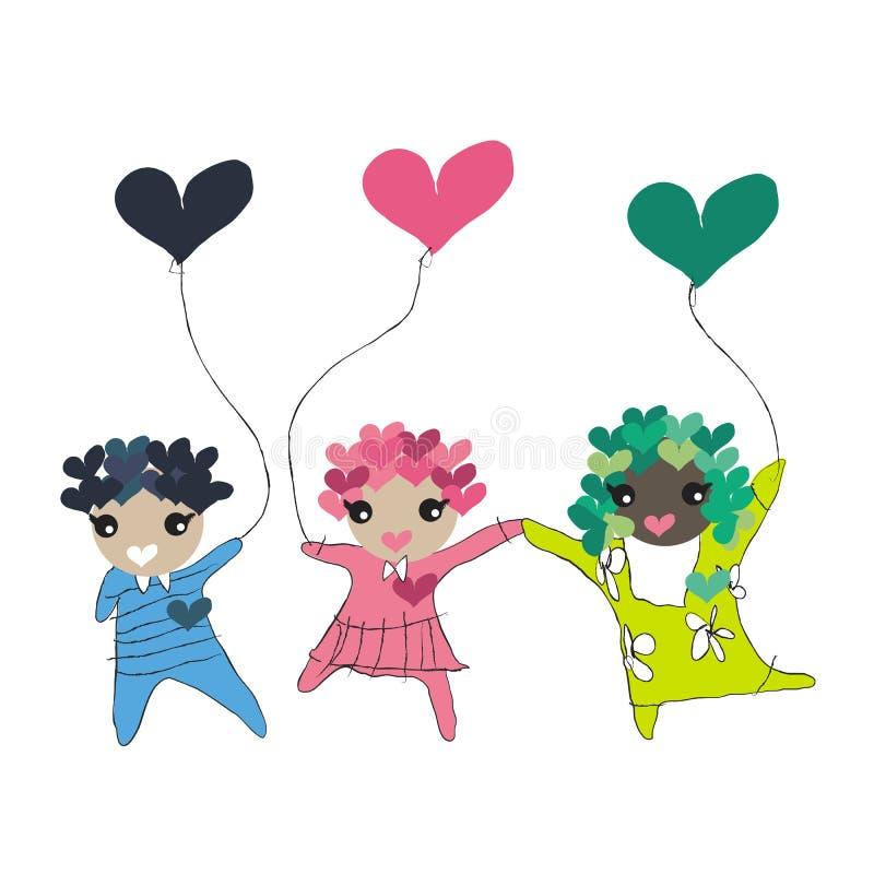 dzieciaki ilustracja wektor