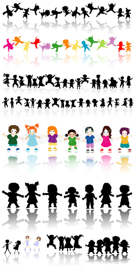 dzieciaki royalty ilustracja