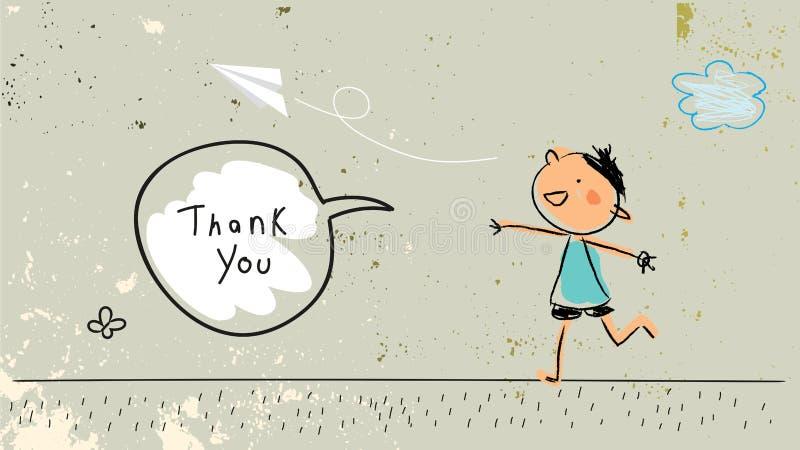 Dzieciaki dziękują was karcianych ilustracji