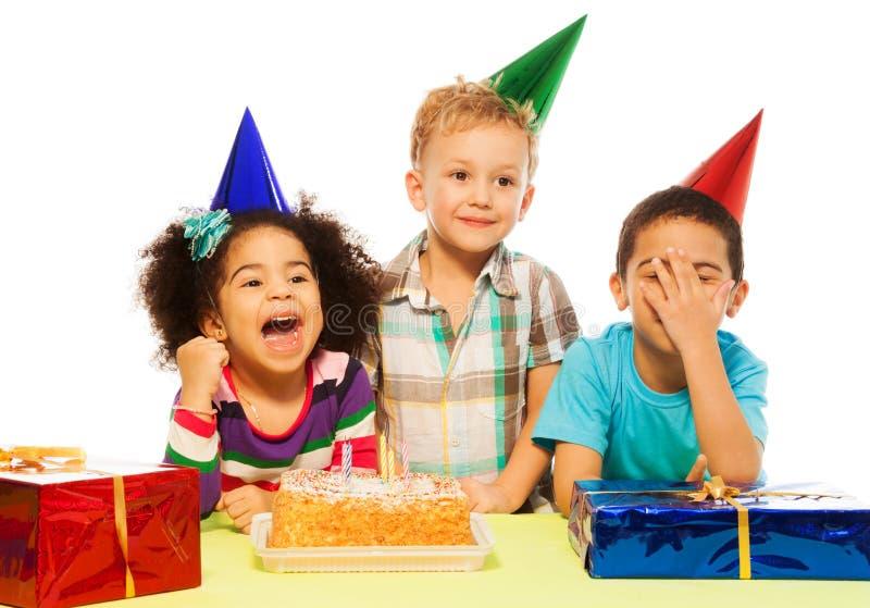 Dzieciaki i przyjęcie zdjęcia royalty free
