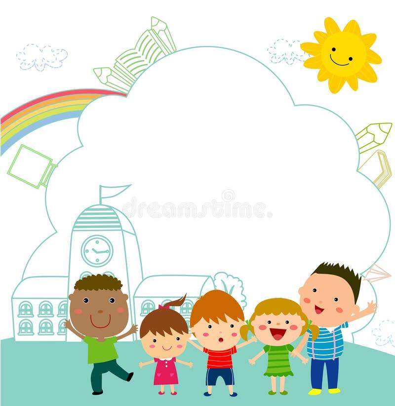 Dzieciaki i rama royalty ilustracja