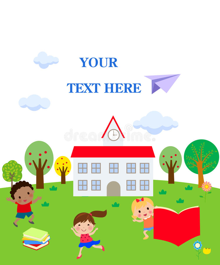 Dzieciaki i szkoła ilustracji