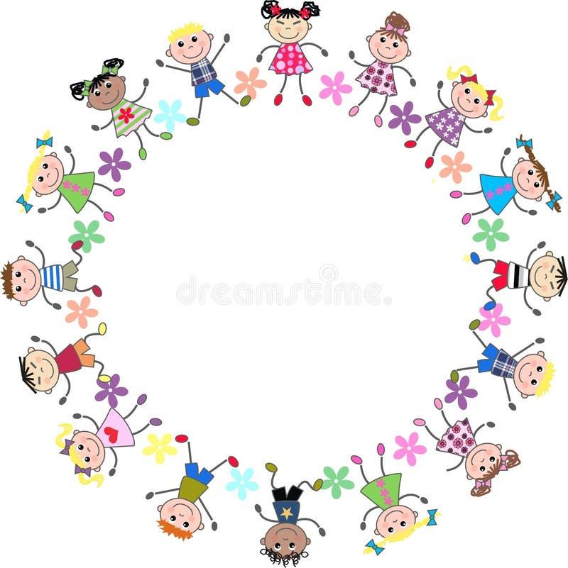 dzieciaki mieszający royalty ilustracja