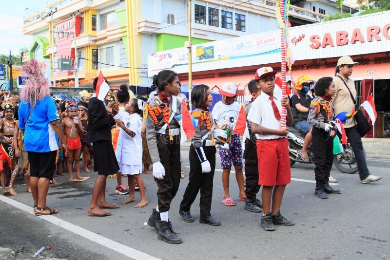 Dzieciaki od szkoły podstawowej SD Negery 02 Amban zdjęcia stock