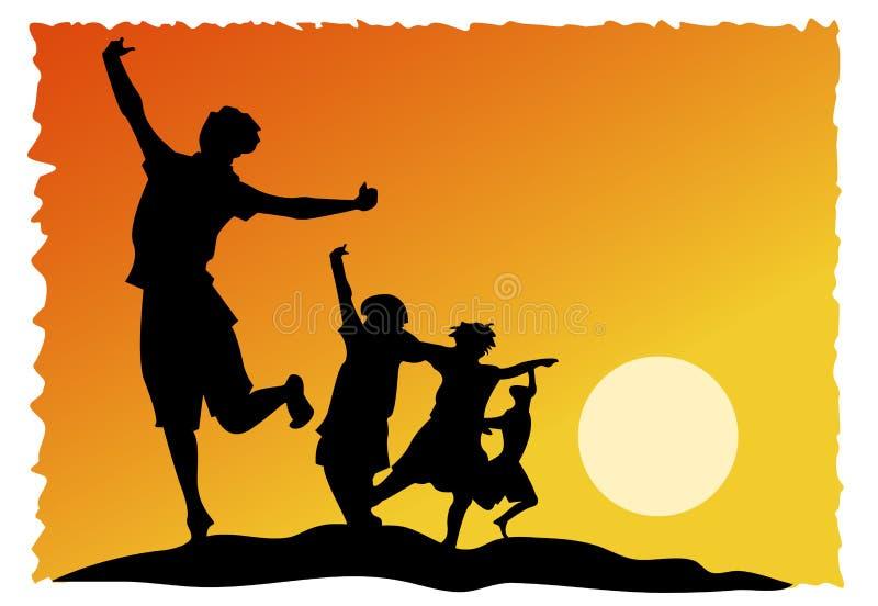 dzieciaki radośni royalty ilustracja