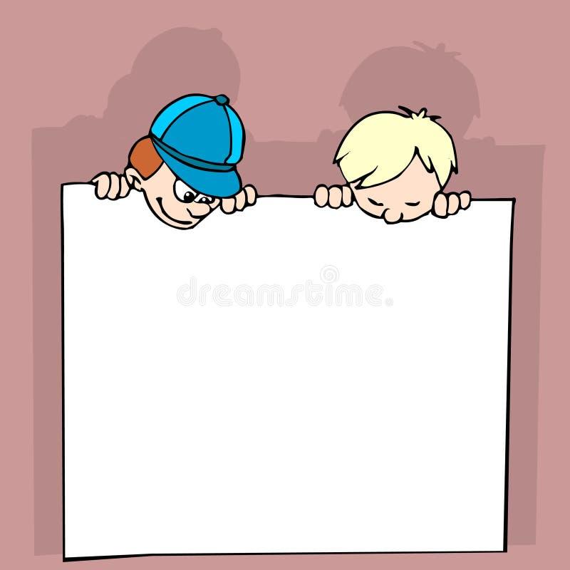 dzieciaki sztandarów ilustracji