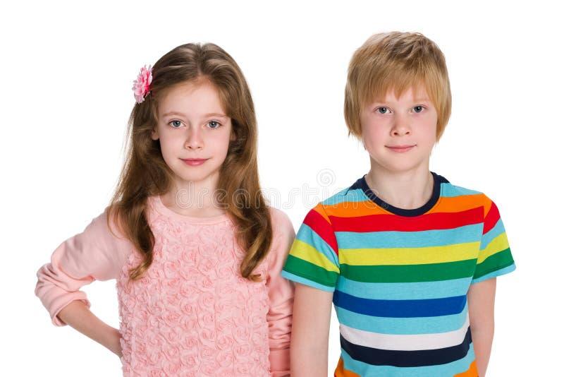 dzieciaki target1756_0_ dwa zdjęcie stock