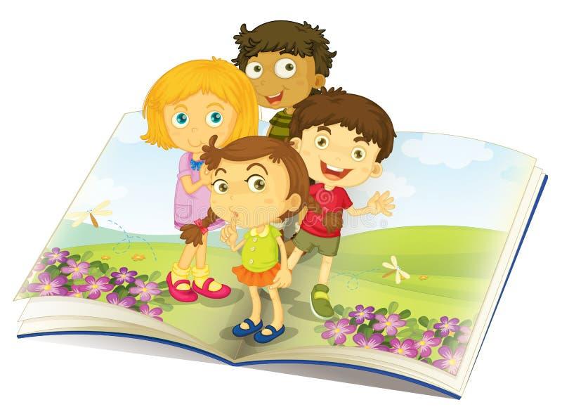 Dzieciaki target1211_1_ komarnicy ilustracja wektor